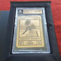 Panini 2010 Playoff Contenders Gerald McCoy rookie 14k golden Ticket 1/1 Beckett