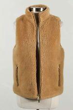 J. Crew Brown Lux Faux Fur Women's Stand Collar Full Zip Vest Size M