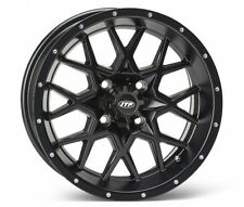 Itp Hurricane Matte Black Atv Wheel Front/Rear 17x7 4/156 - (4+3) [17Rb113] (Fits: More than one vehicle)