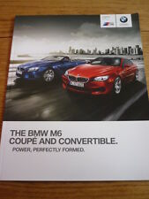 BMW M6 COUPE & CONVERTIBLE CAR BROCHURE 2013/14