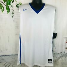 Nike Dri-Fit Men's Blue White Basketball Tank Top ~ Sz Xl ~ Nwt