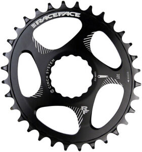 Race Face Narrow Wide 1x MTB Direct Mount Cinch Oval Chainring 34t Black