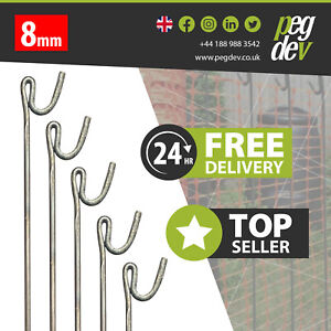 METAL FENCING PINS PACKS 1300 x 8mm - Stakes Events Temporary Barrier Fence