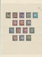 germany 1961/62 used stamps page ref 17673