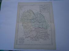 Carte 19° 1852  couleur atlas Malte brun Département de la Lozére plan de Mende