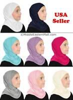 Muslim Children Islamic Scarf Hijab Shawls 2 pc Amira Girl's Hijab Muslim Kids