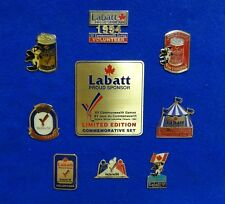 Collection 9 Different Labatt Beer Can Orca Killer Whale Mascot Lapel Pins Plate