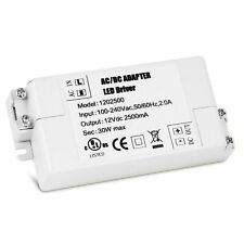30W LED Driver Transformer 240V AC to 12V DC for Strip G4 MR11/16 Bulb Converter