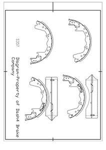 Drum Brake Shoe-Dash4 Rear,Front Dash 4 Brake B357