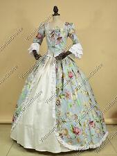 Renaissance Colonial Floral Princess Dress Ball Gown Theater Reenactment 136 XL