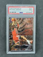 1996-97 Fleer Metal Shredders Michael Jordan #241 PSA Graded 9 Chicago Bulls