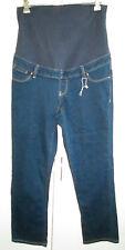 Ladies Maternity Jeans Size 10 Cotton Blend Stretch Blue Denim