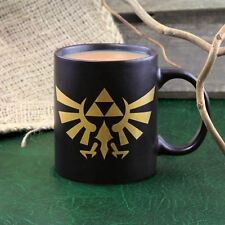 Official Nintendo Legend of Zelda Hyrule Crest Mug - Black and Gold Hyrule Mug