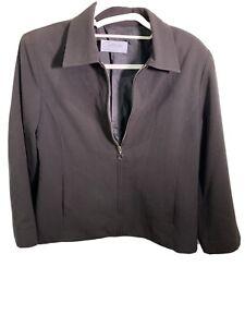 Leesa Black Zip Up Jacket - Size 12