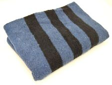 More details for russian army navy blue blanket large thick warm bivouac camping military surplus