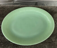 "Fire King Jadeite Jadite Jade-ite Jane Ray 12"" Serving Platter Vintage"