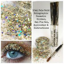 Festival Party Glitter Kit - Fix Gel + Chunky Mix Glitter Face skin body eyes: G