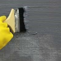 Single component, economical grade acrylic polymer waterproofing system