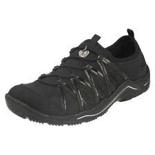 Zapatos planos de mujer negro Rieker