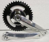 Guarnitura corona Bicicletta singola perno quadro 42 denti pedivella bici Bike