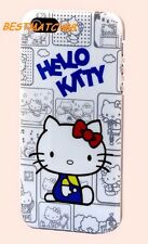 for iphone 5 5s cute hello kitty gray white w/ red bow hard case +film