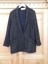 CLOSED Jacke Blazer Kurz Mantel Wolle Fischgrät GR.XL