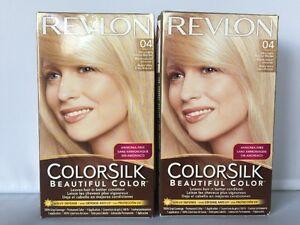 2 x Revlon ColorSilk 04 Beautiful Color Ultra Light Natural Blonde Ammonia Free