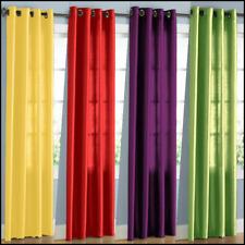 "2 Panels Grommet Faux Silk Window Curtains Drape Treatment Mira 84"" Semisheer"