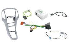 Mascherina kit completo Doppio 2 DIN Opel Astra J SILVER con comandi volante
