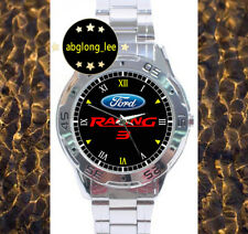 NEW Ford Racing 3 CUSTOM CHROME MEN'S MENS FINISH WATCH WRISTWATCHES