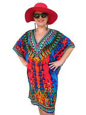 Red Kaftan Plus Size Beach Caftan Viscose crepe crystal Embellished Resort Wear