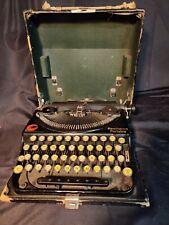 Vintage Remington Portable Typewriter Antique With Case 1920's