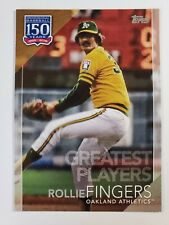 2019 Topps 150 Years Greatest Players Rollie Fingers GP-34 Oakland Athletics