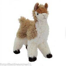 """LENA O'LLAMA Douglas Cuddle Toy 7.5"""" tall stuffed alpaca brown LLAMA animal"""