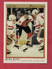 1990-91 OPC PREMIER # 96 FLYERS MIKE RICCI  ROOKIE  CARD