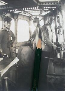 Foto Luftschiffer Flieger Offiziere Zeppelin Parseval Gondel Technik Berlin 1917