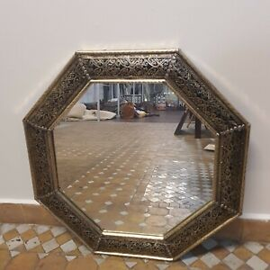 Moroccan Hexagonal Mirror White Metal Mirror - 70 x70cm - Fast Delivery