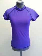 NWT Crane Women's Short Sleeve Rash Vest in Blue UPF 50+ Size 8 or Small