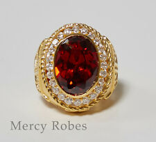 Men's Apostle Ring, Clergy, Style (SUBS860 G-Red)
