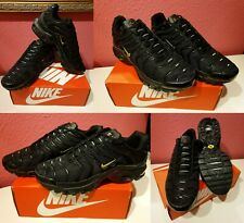 "Nike Air Max Plus TN Schuhe Sneaker Herren Haifisch Schwarz/Gold ""NEU"" Gr 40"
