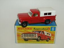 Matchbox Superfast No 6 Ford Pick-Up Truck Light Red Green Base Narrow Wh MIB