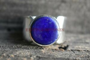 Natural Lapis Lazuli Gemstone with 925 Sterling Silver Ring for Men's EG1098