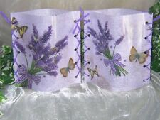 1 Deko Windlicht Lavendel Schmetterlinge Vintage Unikat Mitbringsel