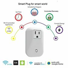 Smart WiFi Plug Outlet, Works with Alexa and Google Home