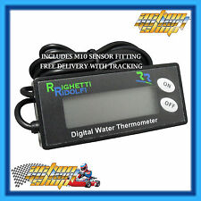 GO KART DIGITAL WATER TEMPERATURE GAUGE ENGINE H2O UNIT 0-150 C THERMOMETER NEW