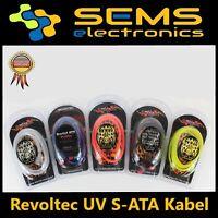 Revoltec UV Datenanschlusskabel S-ATA 90° gewinkelt, verschiedene Farben