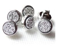LOT 6 BOUTONS RONDS STRASS CRISTAL A COUDRE COUTURE 10mm LAYETTE GILET TRICOT