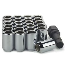 20 Lug Nuts Tuner Acorn 14x1.5 Chrome Socket Open End