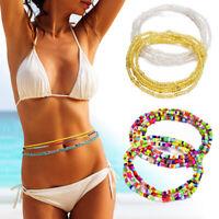 Women Fashion Body Jewelry Waist Chain Beaded Belly Bikini Beach Necklace