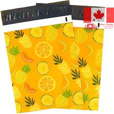 Ohuhu 10x13 100-Pack Pineapple & Orange Design Poly Mailers Christmas Shippin...